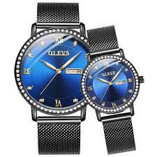 Top <b>OLEVS Luxury Brand Men's</b> women's Crystal Dress Waterproof ...