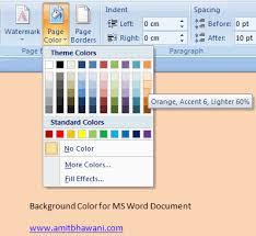 Small Picture Add or Change Background Color in Microsoft Word Documents