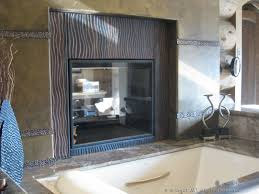 wave copper patina d fireplace surround
