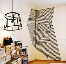 ... Decorative Tape For Walls Wall Decoration Made With Black Plastic Tape  Wire Lamp Made From Recycled ...