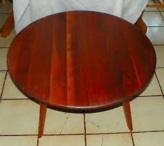 round solid walnut coffee table by bissman and similar items 1