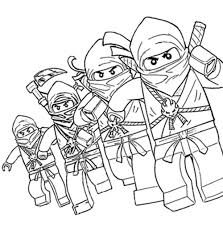Small Picture Lego Ninjago Book Coloring Coloring Pages