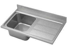 single bowl kitchen sink stainless steel with drainboard industrial