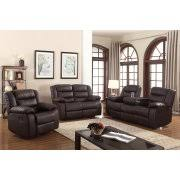 living room furniture sets photos. layla 3 pc dark brown faux leather living room reclining sofa set with drop-down furniture sets photos