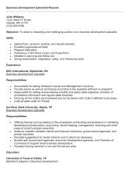 Sample Resume: Template For Business Development Specialist Resume.