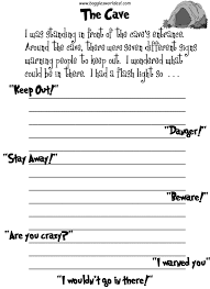 esl creative writing worksheets the cave