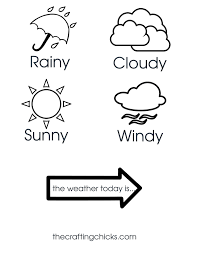 Weather Chart Printable Weather Chart Kid Craft The Crafting Chicks