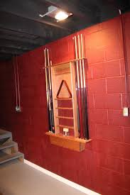 painting basement wallsMost painted concrete block walls look terrible but red seems to