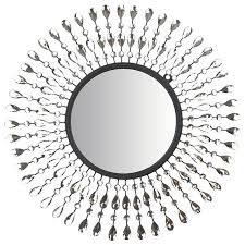 lulu decor pearl drop wall mirror