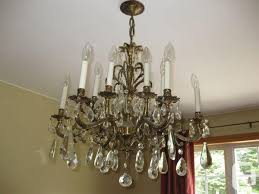 vintage brass crystal chandelier etobie for in pertaining to brilliant property brass crystal chandelier remodel