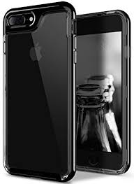 iphone 7 plus black. amazon.com: caseology [skyfall series] transparent clear slim scratch resistant cover drop protection for apple iphone 7 plus - 8 jet black: iphone black