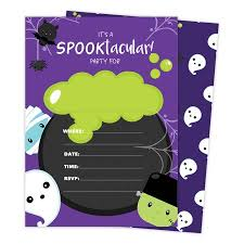 Halloween Invitations Cards Halloween Boy 1 Happy Birthday Invitations Invite Cards 25 Count With Envelopes Seal Stickers Vinyl Girls Boys Kids Party