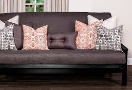 Futon With Decorative Pillows