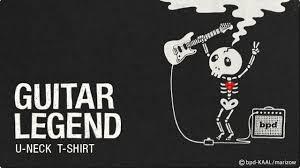 Bpdguitar Legend ギターレジェンドロックでかわいいガイコツ デザインtシャツ カットソー