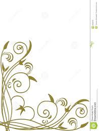 Creeper Design Patterns Gold Frame For Design End Love Stock Illustration