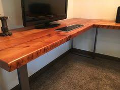 l shaped wood desk. L-shaped Desk. Reclaimed Wood And Steel Industrial Corner Old Rustic Executive Office Desk | Pinterest Barn L Shaped