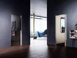 pocket sliding door en crystal pocket door glass panel version by linvisibile
