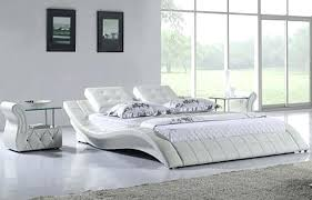 Modern White Platform Bed Opal Modern Walnut Grey Platform Bed White