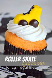 Diy Roller Skate Fondant Cupcake Toppers