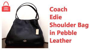 Coach Edie Shoulder Bag in Pebble Leather 33547