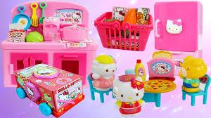 BỘ ĐỒ CHƠI NẤU ĂN - NHÀ BẾP & XE TÌM KẸO HELLO KITTY - Baby Doll Kitchen  Cooking - YouTube