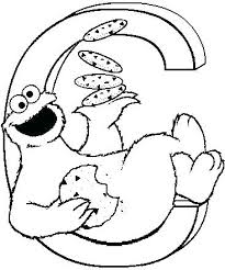 Cookie Monster Coloring Sheets Sesame Street Pages Best Free Cookie