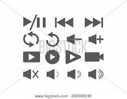 Set Video Icons Logo Vector Photo Free Trial Bigstock