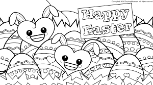 Printable Easter Egg Flowers Coloring Page Kids Free Coloring Book