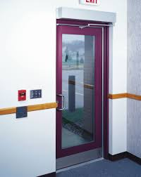 a low energy automatic operator must be actuated by a knowing act e g this wall mounted push on or must comply with the requirements of a builders