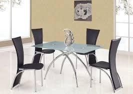 glass top and metal base 5 piece dining set mainstays modern p