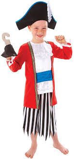 sentinel captain pirate boys fancy dress story book character costume kids ages 3 8 year