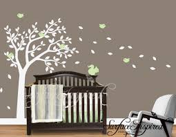 nursery tree wall decal white tree wall decal nursery decor