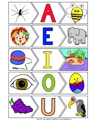 Resultado de imagem para vogais ilustrado