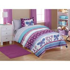 bedroom sets for girls purple. Beautiful Sets Amazon Com 5pc Girl Purple Blue Butterfly Polka Dot Twin Comforter With Girls  Sets Prepare 12 Throughout Bedroom For P