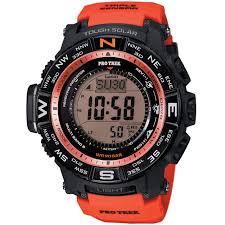 casio digital sport watch protrek tough solar orange mens prw casio men s prw3500y 4 pro trek orange watch