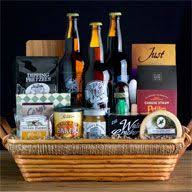 big daddy beer gift basket includes 3 pints of stone brewery beer as well as pretzels and dipping mustard nuts cheese ers salami more 104 99
