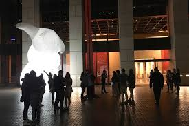 Here's why you're seeing giant <b>glowing rabbits</b> in downtown Los ...