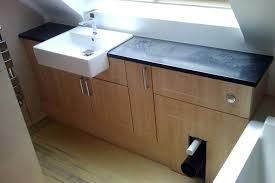 outstanding how to install bathroom vanity units vanity not flush against wall