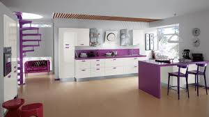 kitchen design purple and white. design showing grey high kitchen small apartment with purple back splash and stools cabinets in white floor