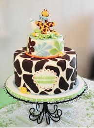 Giraffe baby shower cake - a 4-layer 9 round buttercream French ...