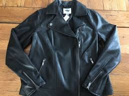 nwt old navy women s faux leather motorcycle jacket black small