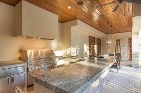 covered patio kitchen design