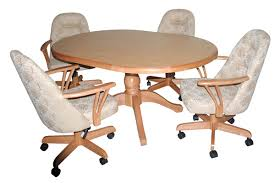 dinette sets chairs with casters. dining room table with caster chairs best . dinette sets casters o