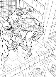 Small Picture Spiderman And Venom Coloring Pages Super Heroes Coloring pages