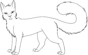warrior cat drawing outline. Unique Cat Warrior Cats Drawing At GetDrawings With Cat Outline R