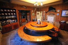table with lazy susan built in round