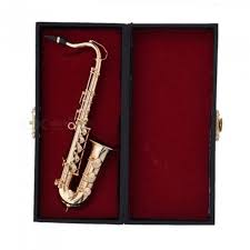 mini saxophone with metal stand miniature al instruments collection decorative ornaments alto saxophone high quality