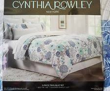 Cynthia Rowley Sand Dollar Twin Quilt- Beige Cream Green Peach ... & NEW Cynthia Rowley Twin 2 Piece Quilt Set Blue, Green, Gray, and White Adamdwight.com