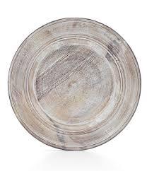 white washed mango wood.  White Southern Living Burnt Whitewashed Mango Wood Charger Plate In White Washed C