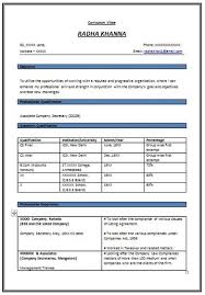 over 10000 cv and resume samples with free download resume format for  experienced company secretary -